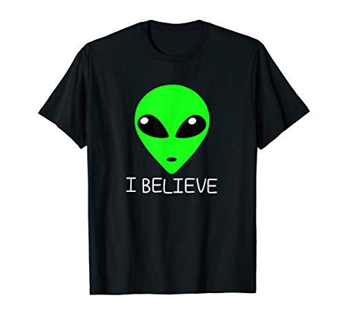 Alien UFO T shirt I Believe in Aliens T shirt