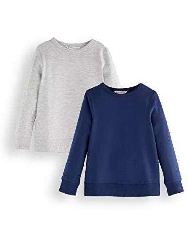 Amazon-Marke: RED WAGON Jungen Sweatshirt, 2er-Pack, Mehrfarbig (Blue and Grey), 104, Label:4 Years