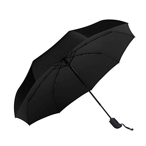Regenschirm Taschenschirm Windproof sturmfest Auf-Zu Automatik 210T Nylon Umbrella wasserabweisend klein leicht kompakt 10 Ribs Reise Golfschirm mit Trockenbeutel