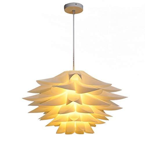 Mobestech Mobestech Puzzel Lampenkap Puzzel Bloem Licht Lotus Kroonluchter Plafond Hanger Lampenkap Diy Puzzel Verlichting Moderne Lampenkap