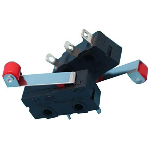UEETEK 10 stücke 250 V 5A SPDT 1NO 1NC Momentary Scharnier Rollenhebel Mikroschalter 3 Pins