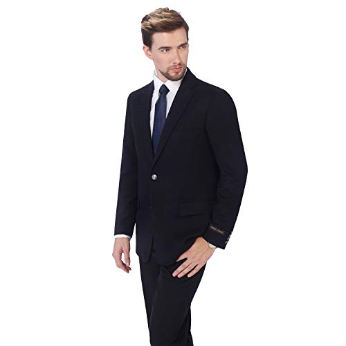 P&L Men's Blazer Premium Stretch Classic Fit Sport Coat Suit Jacket Navy
