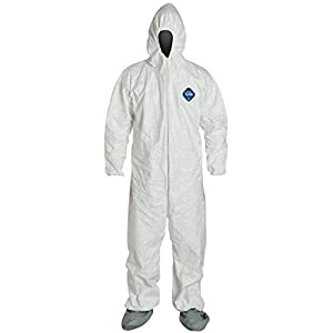DuPont Industrial & Scientific TY122S - 2XL TY122S EACH 2XL Disposable Elastic Wrist, Bootie and Hood Tyvek Coverall Suit 1414 White