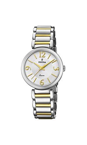 Festina Dames analoog kwarts horloge met roestvrij staal gecoate armband F20213/1