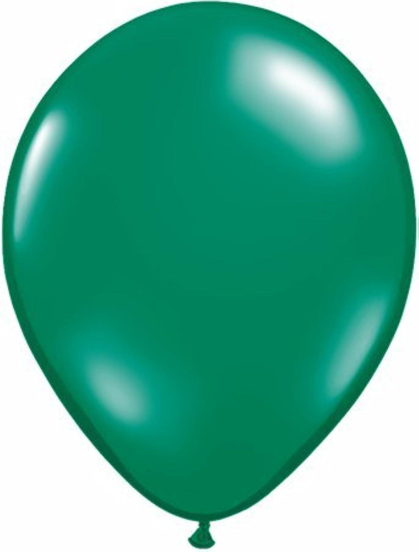 Jewel Emerald Green 16 Qualatex Latex Balloons x 50 by Jewel Finish Solid Colour 16 Latex