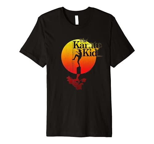 The Karate Kid Sun Gradient Logo Premium T-Shirt, S to 3XL
