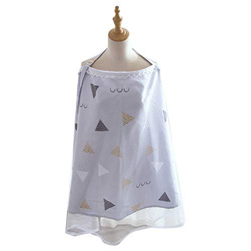 Manyao - Sombrilla universal para cochecito/cochecito, mantas, algodón, protección solar, mosquitera, cochecito, canopy antipolvo, sombrilla para cochecito (triángulo azul claro)