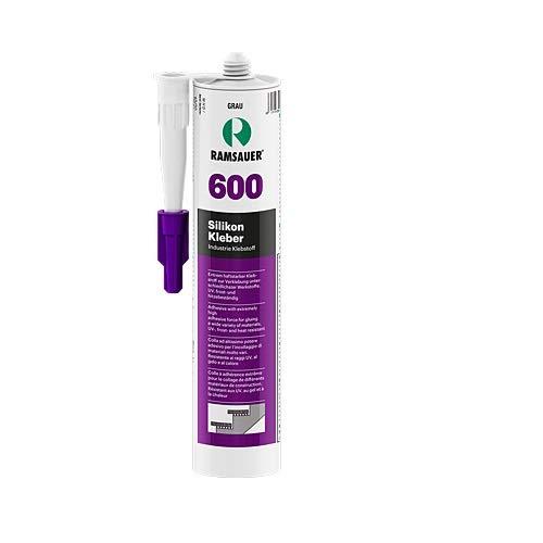 Ramsauer 600 Silikon Kleber grau 1K Silikon Klebstoff 310ml Kartusche