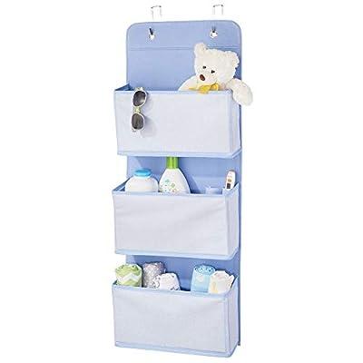 mDesign Fabric Over Door Hanging Storage Organizer - 3 Pockets