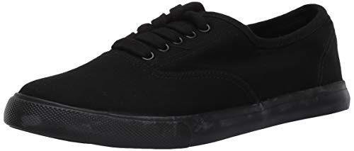 Amazon Essentials Women's Shelly Sneaker, Black, 7 Medium US