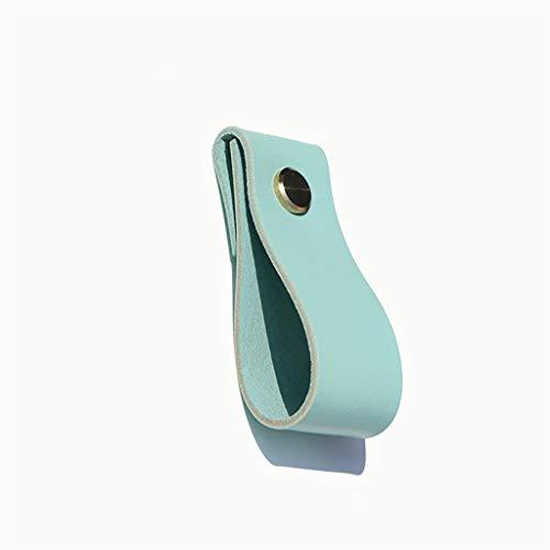 LQ Möbelgriff aus Leder, Türgriff aus amerikanischem Kleiderschrank, Schubladengriff aus einlochigem Beschlag (Color : D, Size : 4pcs)