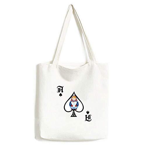 Russisches Symbol Russische Puppen Muster Handtasche Craft Poker Spaten waschbare Tasche