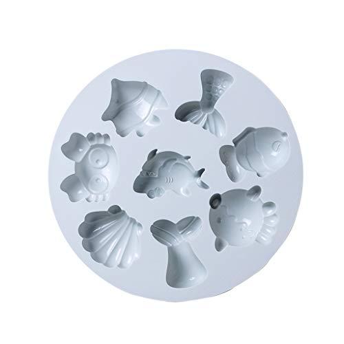 ColourQ - Moldes de silicona para repostería con cuentagotas y moldes de silicona