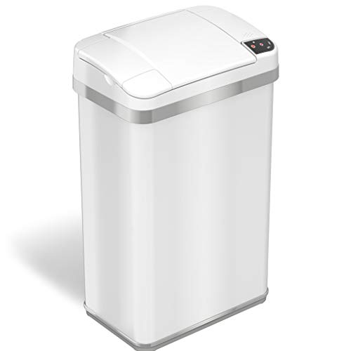 iTouchless Multifunction Sensor Matt Finish Trash Can 4-Gallon