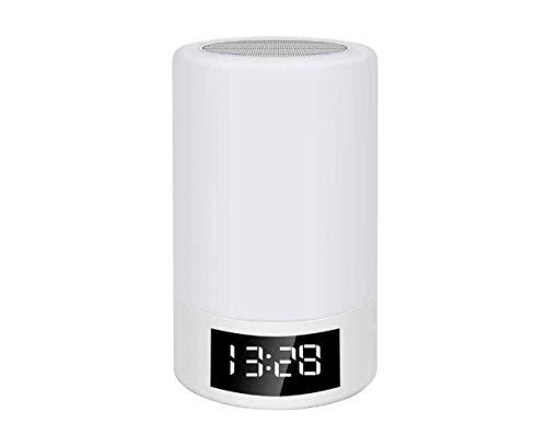 XFSE Drahtlose Bluetooth-Lautsprecherkarte FM-Radio Wecker Touch Dimming Kreative Tischlampe Buntes Licht Nachtlicht