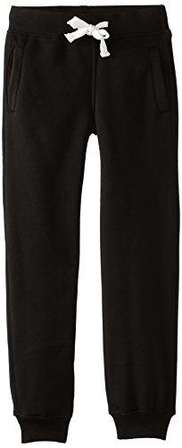 Southpole Boys' Big Active Basic Jogger Fleece Pants, Black, Large / 14-16