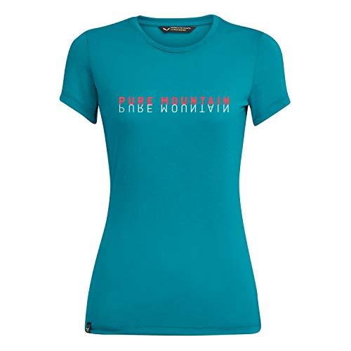 SALEWA Pure M. Dri-Rel W S/S Camiseta, Mujer, Ocean Melange