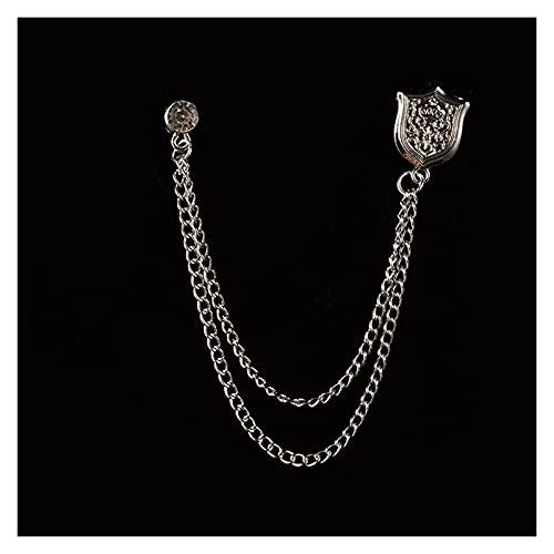 QIANXIMY Broche Pájaro Broche Estrella Cristal Cadena Cadena Pin Pin Pin Sith Camisa Ropa de Moda Broches para Mujeres Hombres Accesorios (Metal Color : 4)
