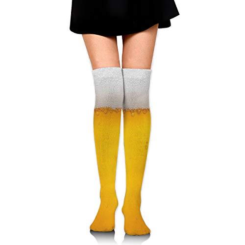 ghkfgkfgk Gelbe Bier Blase Unisex elastische lange Socken Kompression Kniestrümpfe für Sport, Laufen, Reisen 23,6 Zoll