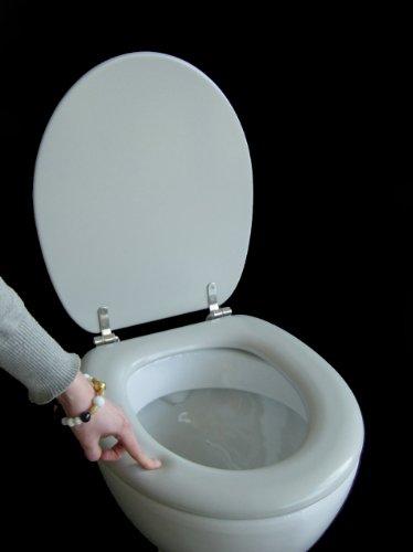 Polsi Soft WC Sitz gepolstert Farbe manhattan grau mit Edelstahlscharnieren