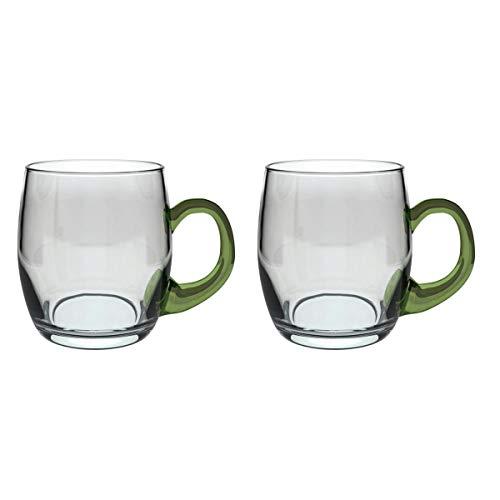 Böckling 19325 Weinseidel mit Henkel 250 ml, Glas, / 25 cl, grün/transparent (2 Stück)