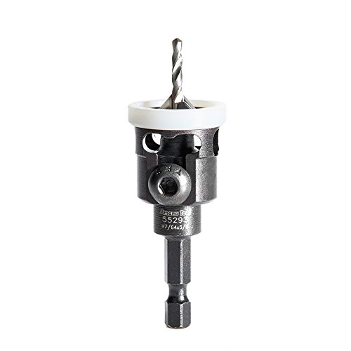 Amana Tool - (55293) Carbide Tipped 82° Countersink with Adjustable Low Friction Depth Stop, 3/8 Dia x 7/64 Drill Dia x 1/4 In
