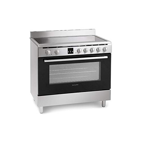 Montpellier 90cm Electric Single Oven Range Cooker With Ceramic Hob - Stainless Steel