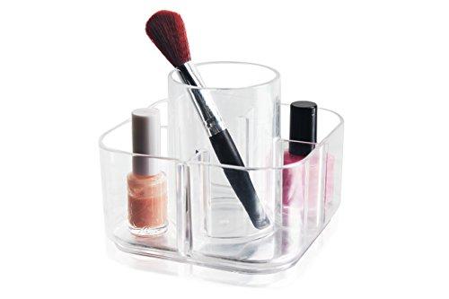 Aooyu Organizador de Maquillaje acrílico Transparente de Alta Calidad, 5 Compartimentos, Organizador de cosméticos de acrílico, 1 Unidad