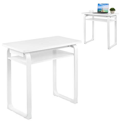 Escritorio de Estudio Mesa de computadora Escritorio Moderno de 80 x 40 x 75 cm Suministros para el hogar MDF + Tubería de Acero para Oficina en casa