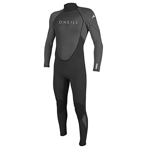 O'Neill Wetsuits Reactor-2 3/2mm Back Zip Full Wetsuit Traje húmedo, Hombre, Negro/Gris, L