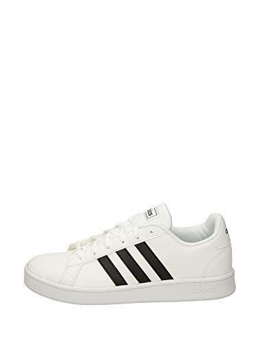 Adidas Grand Court K, Zapatos de Tenis Unisex Niños, FTWR White/Core Black/FTWR White, 38 EU