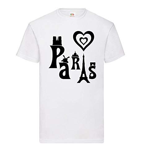 I Love Paris mannen T-shirt - shirt84.de
