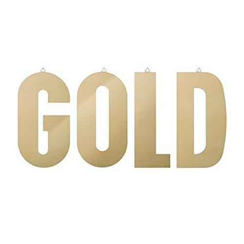 Bloomingville Letters, G-O-L-D-, Gold Finish, L55cm, H0,3cm, 4er Set