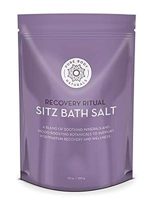 Sitz Bath Salt - Postpartum Care and Hemorrhoid Treatment - Natural Sitz Bath Soak with Epsom Salt, Dead Sea Salt, Essential Oil for Self Care and Hemmoroid Treatment by Pure Body Naturals