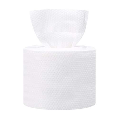 Milisten Serviette pour Le Visage Jetable Non-Tissé Tissu Doux Visage Tissu Démaquillant Tissus Gant de Toilette Doux pour La Maison Voyage Blanc