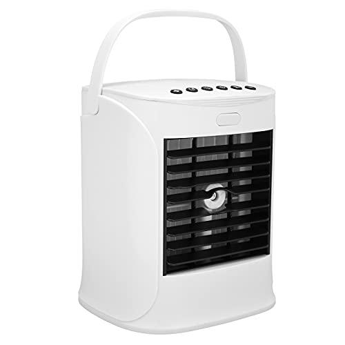SALUTUY Ventilatore per condizionatore d'Aria, Mini condizionatore Portatile con Impugnatura Portatile 7 Colori tenui per Famiglie