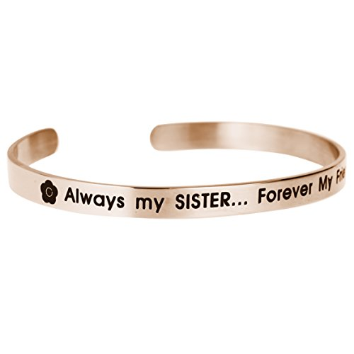 Qina C. Always My Sister Forever My Friend - Pulsera ajustable
