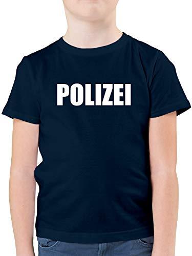Karneval & Fasching Kinder - Polizei Karneval Kostüm - 116 (5/6 Jahre) - Dunkelblau - Polizei faschingskostuem Kinder - F130K - Kinder Tshirts und T-Shirt für Jungen