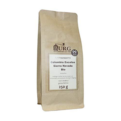 BURG Bio Colombia Excelso Sierra Nevada Kaffee Gewicht 500 g, Mahlgrad ungemahlen