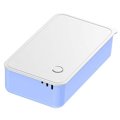 Tragbare UV-Sterilisatorschrank Telefon Desinfektionsmittel UV-Reiniger Mobile Double Ultraviolett-Desinfektionslampe Mini-Sterilisationsbox Blau