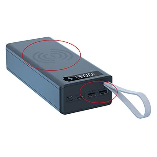 GHBOTTOM Pantalla LCD Desmontable DIY 16x18650 Caja de batería Carcasa de Banco de Caja Externa sin batería Caja de Carga inalámbrica de 5W