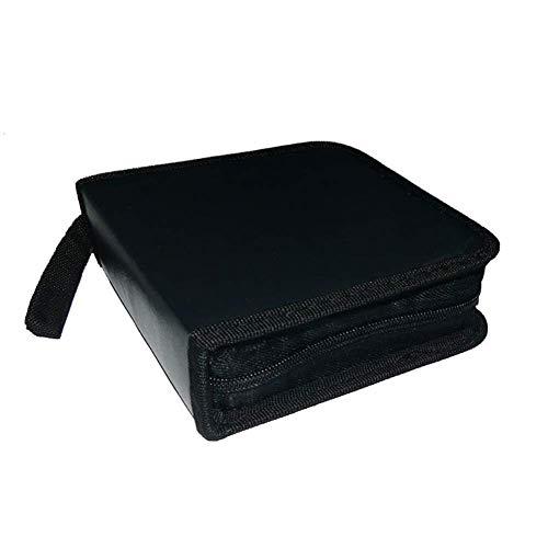 N-K Tragbare CD DVD Brieftasche Binder Book Sleeves Disc Aufbewahrungstasche Tragetasche schwarz stilvoll und beliebt