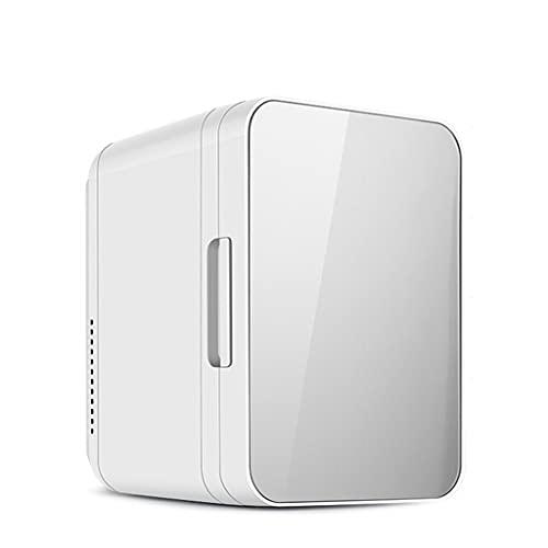 Mini Refrigerador, Mini Nevera Portátil para el Skincare 8L/8 Latas de Refrescos, Frigorificos Pequeños AC/DC con función de Frío y Calor para Hogar,Oficio,Coche,Alimentos,Cosmeticos,Bebidas,Silver