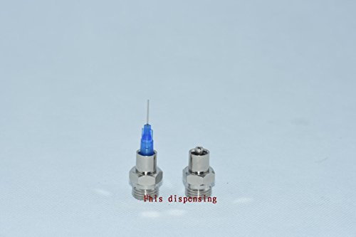 "Fhis Dispensing Locking Head Luer Lock Adapter Screw End G1/8,G1/4, M101, M121 Optional for Automatic Dispensing Valve (1/4"")"