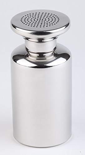 APS Salzstreuer, Salzspender, Salzgefäß für Pommes Frittes mit Schraubkappe, Edelstahl Streuer für Salz, 8 x 8 cm, 17 cm Höhe, poliert
