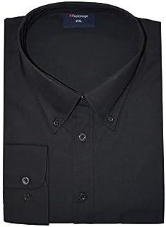 Espionage Fácil Cuidado algodón Rich Manga Larga Camisa Con Cuello Abotonado (150) en TALLA 2xlA 8xl, Blanco O NEGRO COLORES