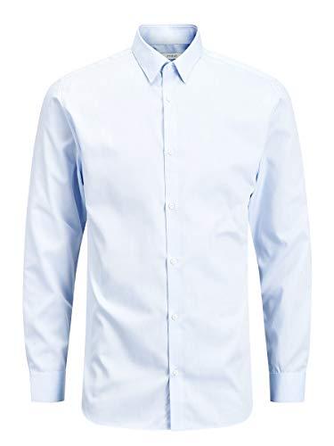 JACK & JONES Herren Jprnon Iron Shirt L/S Noos Businesshemd, Blau (Cashmere Blue Fit:slim Fit), XL EU