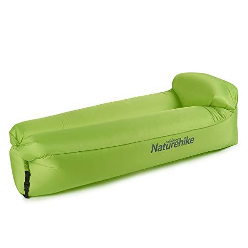 Naturehike Aufblasbarer Lounger, Wasserdichtes Luft Sofa mit Portable Paket, Lazy Lounger Aufblasbares Sofa Air Bett für Reisen, Camping, Wandern, Pool und Beach Parties (Grün)