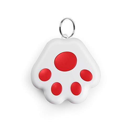 CRGANGZY Localizador de localización antipérdida con Bluetooth portátil, localizador de Mascotas con GPS con Bluetooth, Llavero Inteligente antipérdida, localizador de Perros y Gatos (Rojo)