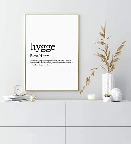 MG global - Impresión de pared Hygge - Decoración para el hogar - Arte de pared sin marco